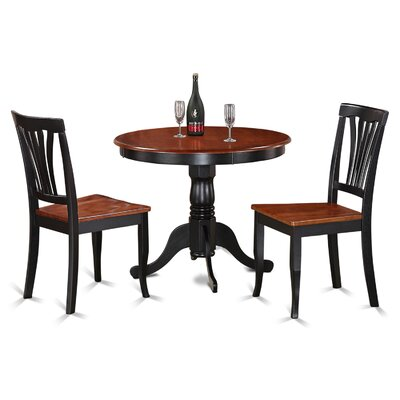 Ranshaw 3 Piece Bistro Set Finish: Black / Cherry