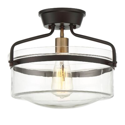 Rhinebeck 1-Light Semi Flush Mount Finish: Oil Rubbed Bronze
