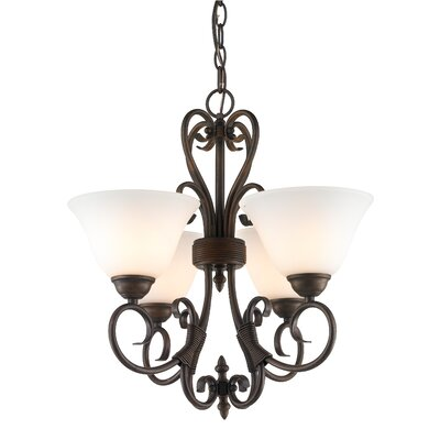 Gaines 4-Light Shaded Chandelier