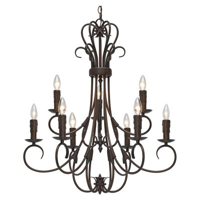 Gaines 9-Light Candle-Style Chandelier