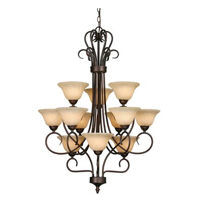 Gaines 12-Light Shaded Chandelier Finish: Rubbed Bronze