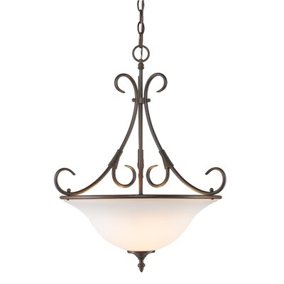 Gaines 1-Light Bowl Pendant