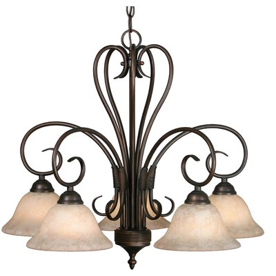 Gaines 5-Light Shaded Chandelier Finish: Rubbed Bronze