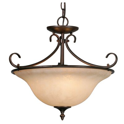 Gaines 3-Light Bowl Pendant