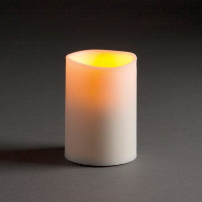 Flameless Pillar Candle (Set of 2) Size: 5 H x 3.5 W