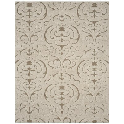 Elwin Florida Shag Cream/Beige Area Rug Rug Size: Rectangle 86 x 12
