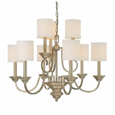 Ellicott Mills 9-Light Shaded Chandelier