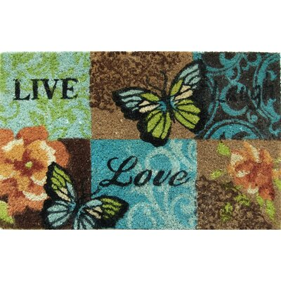 Savannah Heights Live Laugh Butterfly Doormat