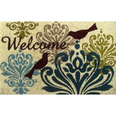 Savannah Heights Bird Damask Doormat Rug Size: 110 x 3