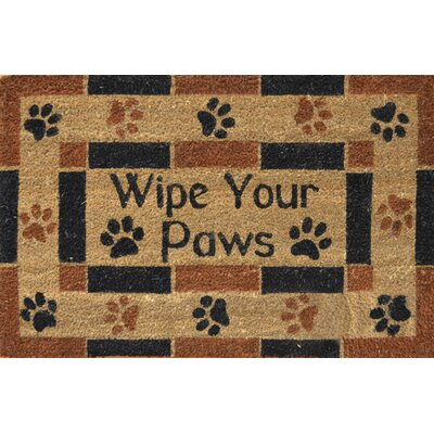 Savannah Heights Wipe Your Paws Doormat Mat Size: Rectangle 110 x 3