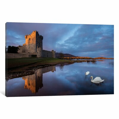 Dawn Reflection Ross Castle Photographic Print on Wrapped Canvas