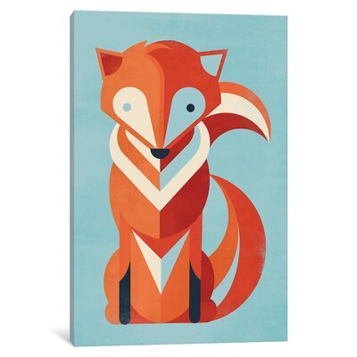 Fox Graphic Art on Wrapped Canvas