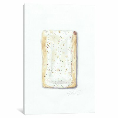 Strawberry Pop-Tart Painting Print on Wrapped Canvas