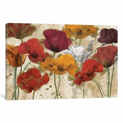 Happy Flowers Painting Print on Wrapped Canvas