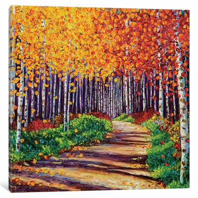 Intricate Forest Painting Print on Wrapped Canvas