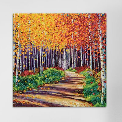 Intricate Forest Painting Print on Wrapped Canvas Size: 12