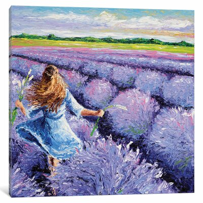 Lavender Breeze Panel 3 Painting Print on Wrapped Canvas