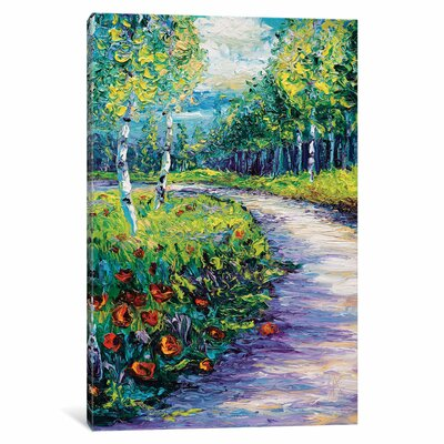Radiant Path Painting Print on Wrapped Canvas