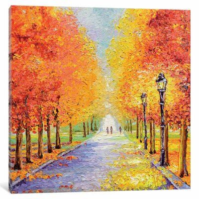 Autumn Lights Painting Print on Wrapped Canvas