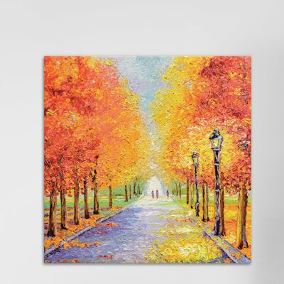 Autumn Lights Painting Print on Wrapped Canvas Size: 12