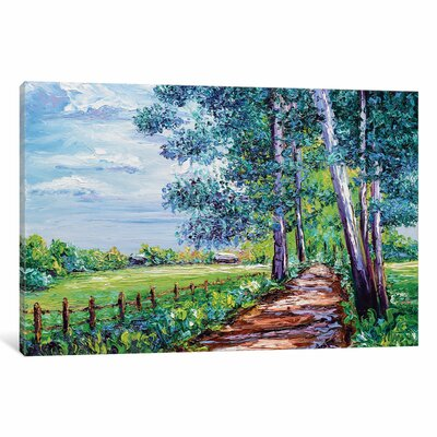Shaded Painting Print on Wrapped Canvas