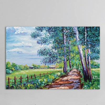 Shaded Painting Print on Wrapped Canvas Size: 12