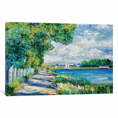 By The Sea Tribute to Monet Painting Print on Wrapped Canvas