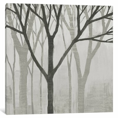 Spring Trees Greystone II Painting Print on Wrapped Canvas