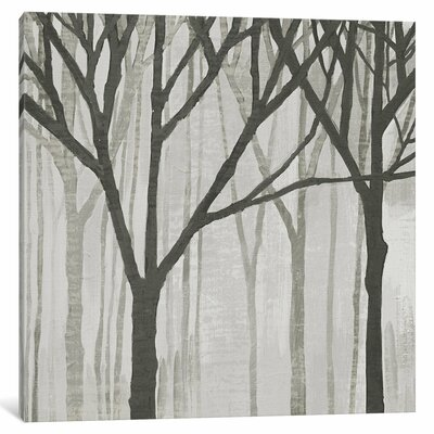 Spring Trees Greystone III Painting Print on Wrapped Canvas