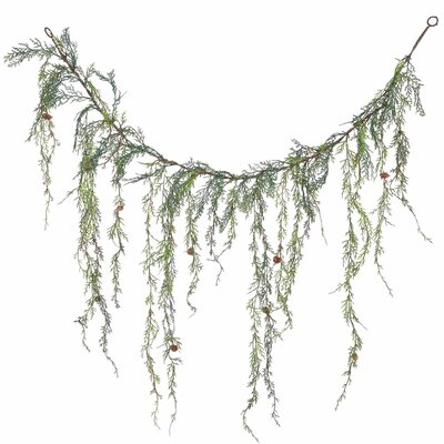 Weeping Cedar Artificial Christmas Garland Unlit