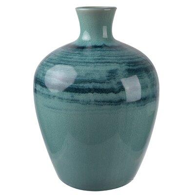 Trumpet Blue Vase