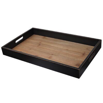Alcott Hill Hand-Crafted Wooden Tray