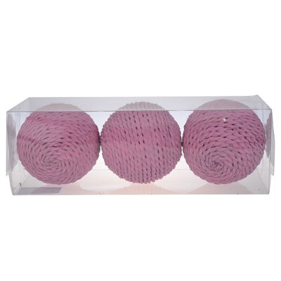 Decorative Twine Sphere (Set of 2) Color: Pink