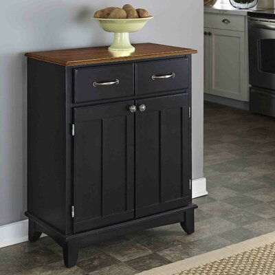 Ferris 2 Drawer Wood Server Color: Black