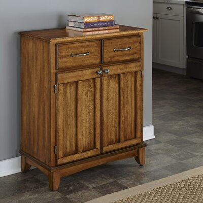 Ferris 2 Drawer Wood Server Color: Cottage Oak