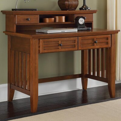 Lakeview 42 W Writing Desk and Hutch Finish: Cottage Oak