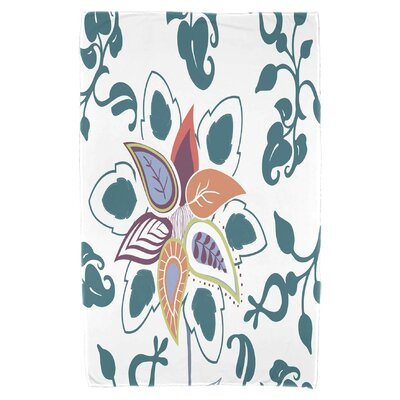 Orchard Lane Paisley Pop Beach Towel Color: Teal