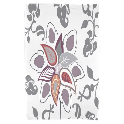 Orchard Lane Paisley Pop Beach Towel Color: Gray