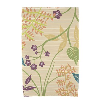 Orchard Lane Botanical Beach Towel Color: Gold