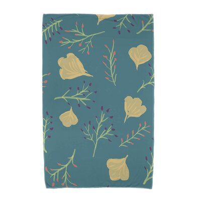 Orchard Lane Spring Blooms Beach Towel Color: Teal