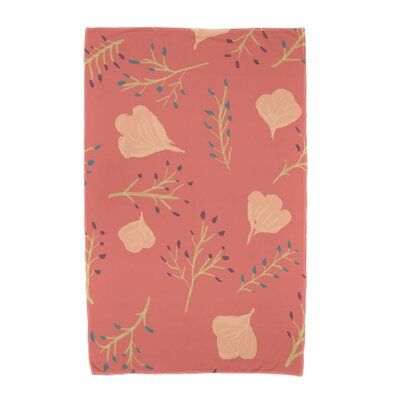 Orchard Lane Spring Blooms Beach Towel Color: Coral