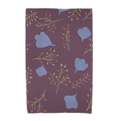 Orchard Lane Spring Blooms Beach Towel Color: Purple