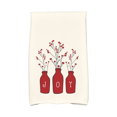Holiday Wishes Joy Hand Towel Color: Red