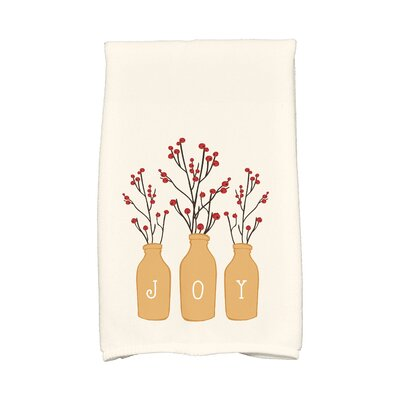Holiday Wishes Joy Hand Towel Color: Gold