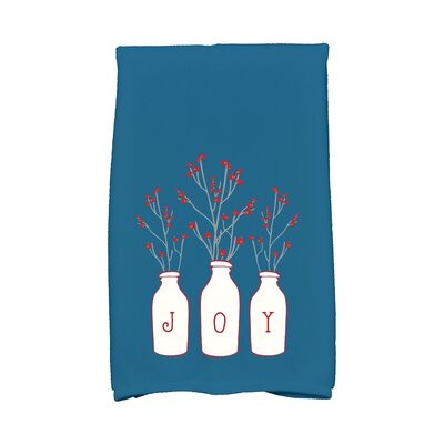 Holiday Wishes Joy Hand Towel Color: Teal