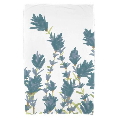 Orchard Lane Lavender Floral Print Beach Towel Color: Teal