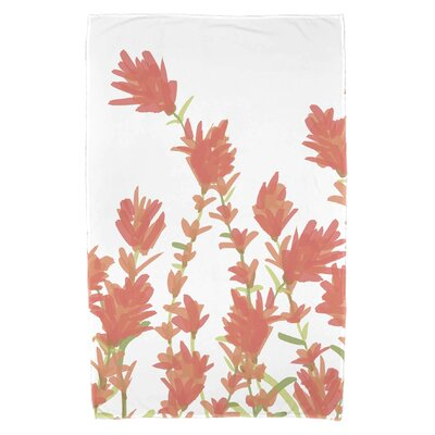 Orchard Lane Lavender Floral Print Beach Towel Color: Coral