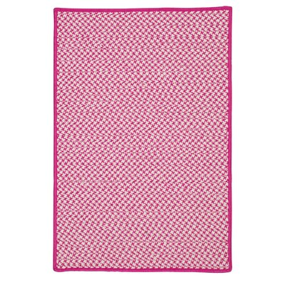Greenbrier Valley Hand-Woven Pink Indoor/Outdoor Area Rug Rug Size: 2 x 4