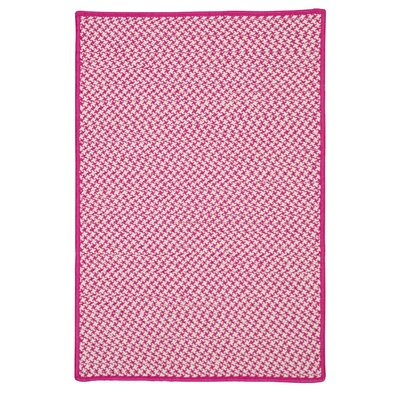 Greenbrier Valley Hand-Woven Pink Indoor/Outdoor Area Rug Rug Size: 5 x 8