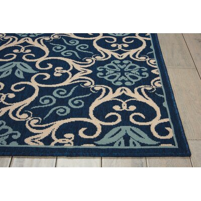 Carleton Navy Indoor/Outdoor Area Rug Rug Size: 311 x 511
